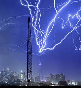 CN Tower Struck by Lightning