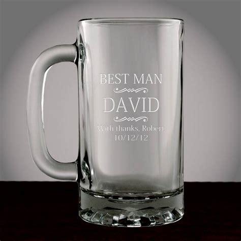 personalized  man glass beer mug