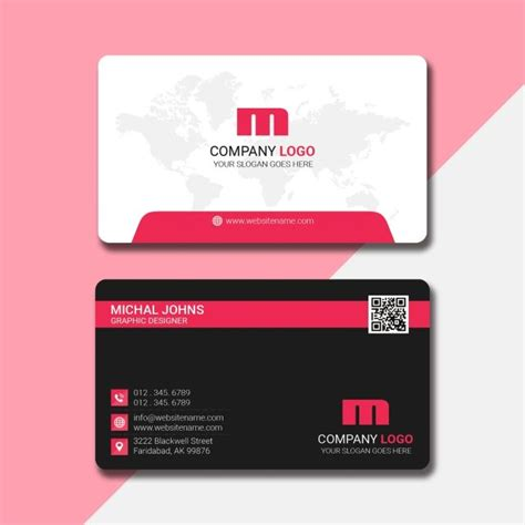 creative business card  qr code place  images