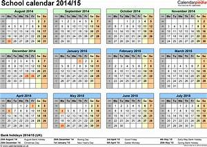 6 best images of printable school calendar 2014 2015 for Academic calendar template 2014 15