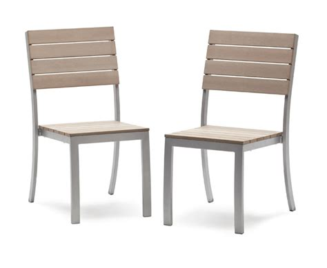 strathwood brook dining armless chair set of 2 patio