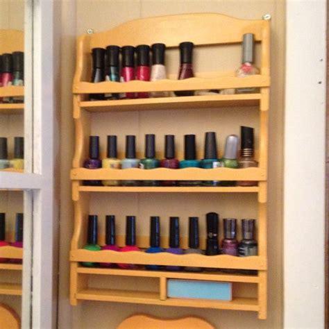 purposed spice rack diy nail polish rack diy nail