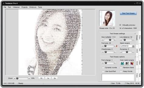 Text Image Generator Textaizer Pro One Text Mosaic Ascii Generator To