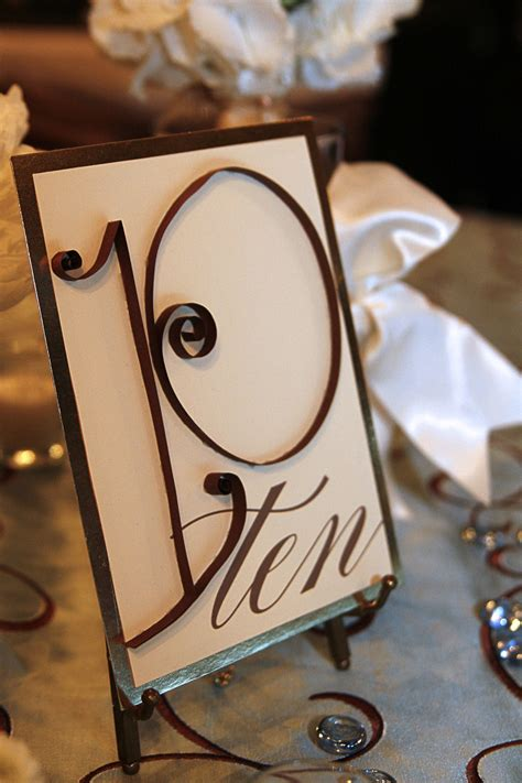 wedding table number ideas wedding details table numbers ideas