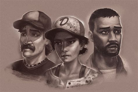 Kenny Lee Clementine The Walking Dead The Game By