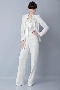 17 best images about wedding gowns pant suit on pinterest With wedding dress suit