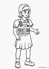 Coloring Pages Scout Brownie Printable Cool2bkids Scouts Printables Fall sketch template
