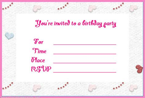 Birthday Invites Make Birthday Invitations Online Free
