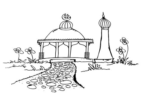 mosque coloring pages coloring pages    print