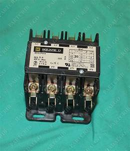 Square D 8910dpa14v02 Contactor 4pole 25a 120v Coil 600v