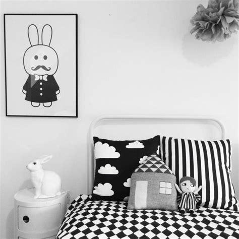 chambre noir deco noir et blanc