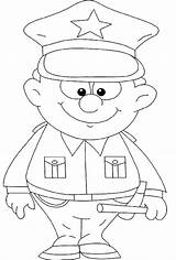 Coloring Pages Police Policeman Printable Officer Strong Badge Clipart Kid Colouring Sheets Aid Preschool Crafts Boy Printables Holidays Stuff Helpers sketch template