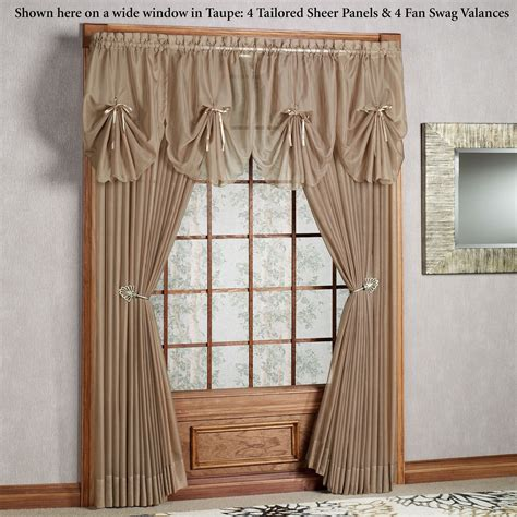 Swag Valances Window Treatments by Emelia Sheer Fan Swag Valances Windows Drapes Curtains