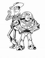 Coloring Buzz Zurg Woody sketch template