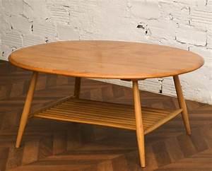 Table Basse Année 50 : table table basse vintage ancienne style scandinave ercol england plateau oval ch ne clair ~ Teatrodelosmanantiales.com Idées de Décoration