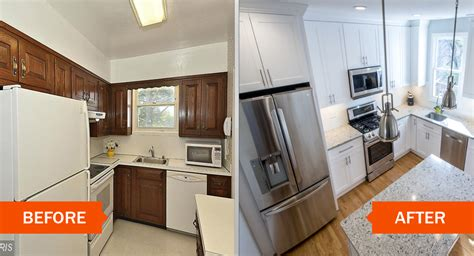 brushed nickel cabinet small kitchen remodel before and after layout stylish