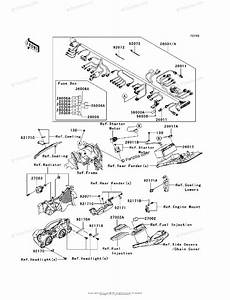 Kawasaki Motorcycle 2008 Oem Parts Diagram For Chassis Electrical Equipment