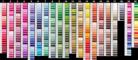 dmc thread color chart untitled 1 www yarntree