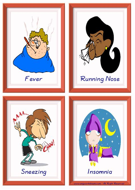 health problems esl printable picture english dictionary