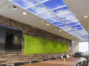 Fausse Fenetre Lumineuse : lumick fen tres virtuelles plafonds lumineux clairage dalle led ~ Melissatoandfro.com Idées de Décoration