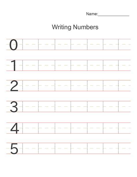 printable number writing worksheets for kindergarten