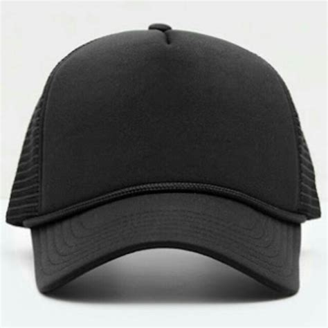 topi hitam polos s fashion s accessories caps