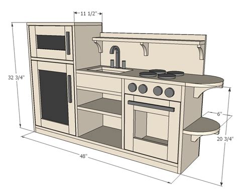 ana white  piece play kitchen diy projects