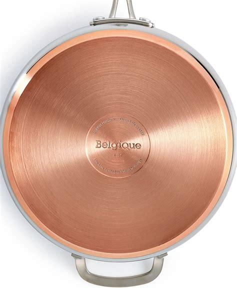 belgique copper bottom  qt saute pan  lid created  macys reviews cookware
