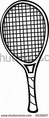 Tennis Racket Coloring Racquet Template sketch template