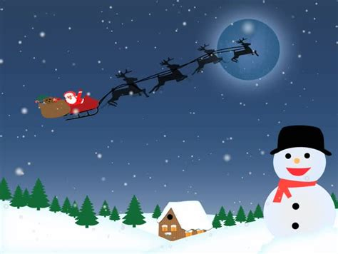 Stock Video Of Santa Riding Sleigh In The Sky