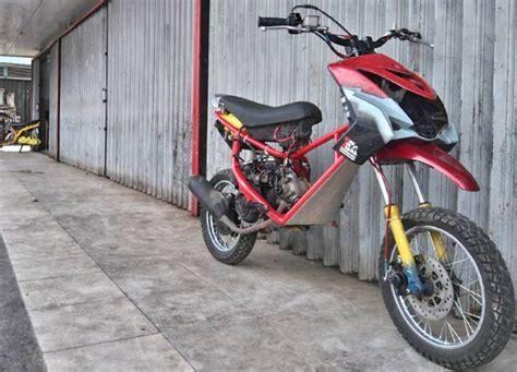 Modifikasi Mio Soul Jadi Motor Trail by Modifikasi Mio Soul Trail Modifikasi Motor Kawasaki