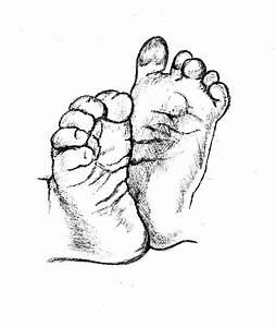 Drawings Of Baby Feet - ClipArt Best