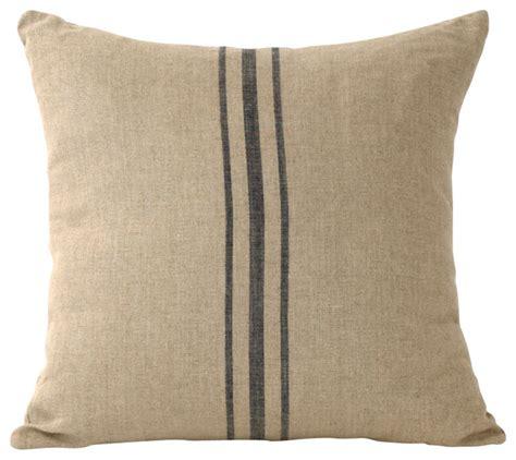 decorative pillows linen striped pillow blue farmhouse decorative