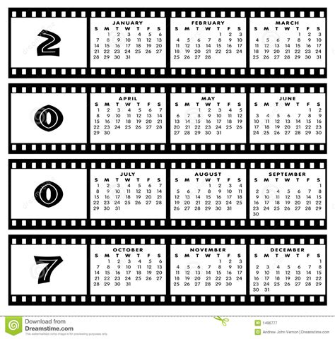 calendar   film strip frame royalty  stock