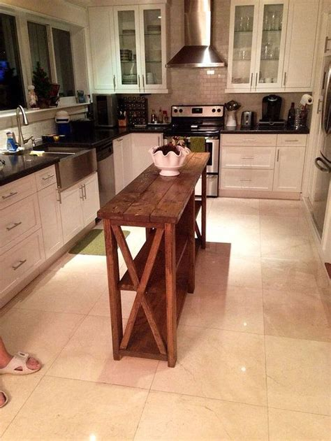simple rustic homemade kitchen islands ideas