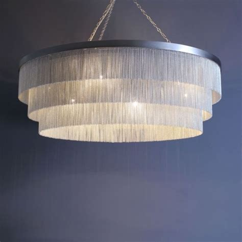 Silver Chain Chandelier by Silver Chain Shallow Chandelier Contemporary