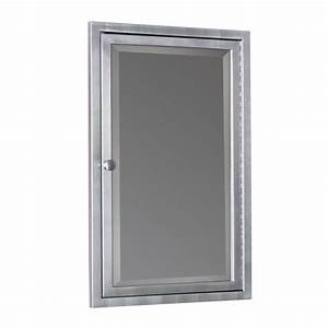 deco mirror 16 in w x 26 in h x 4 1 2 in d framed With brass framed medicine cabinet