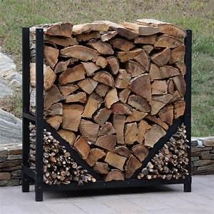 Shelterit, Shelterit, 4, Ft, Firewood, Log, Rack, With, Kindling, Wood, Holder