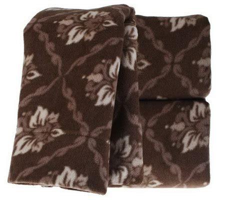 malden mills polarfleece floral damask queen size sheet