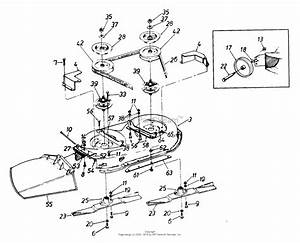 Mtd 134y450f054  1994  Parts Diagram For Deck Assembly