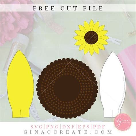diy paper sunflower   svg template gina  creates