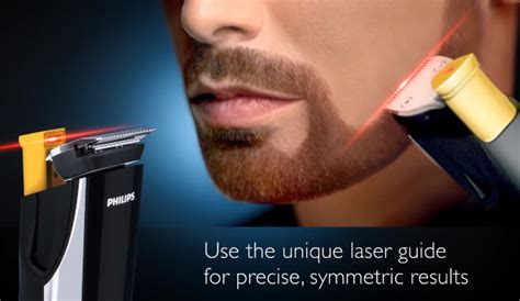 finally  laser guided beard  mustache trimmer geekologie