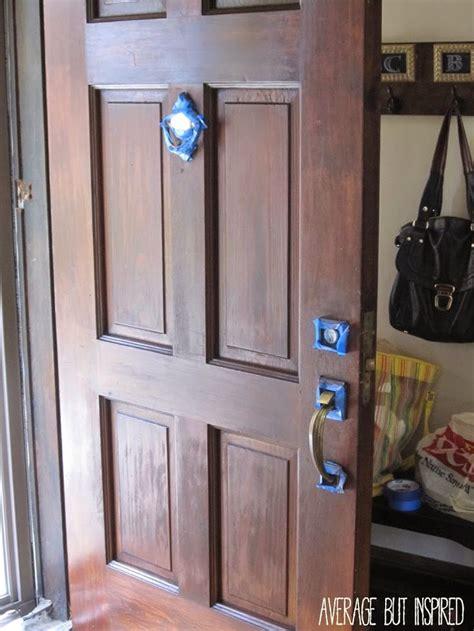 refinish  exterior door  easy  wood