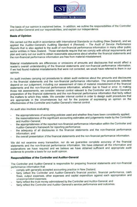 audit report office   auditor general  zealand