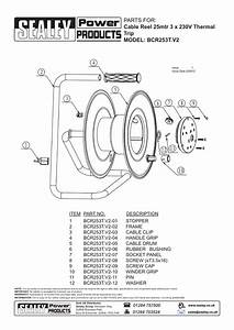 Parts For  Cable Reel 25mtr 3 X 230v Thermal Trip Model