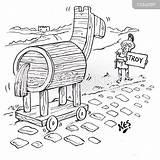 Hitchhiker Template Trojan Troy Sketch sketch template