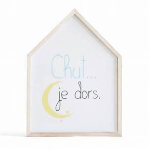 Cadre Deco Bebe : cadre d co lumineux pour chambre d 39 enfant chut je dors ~ Teatrodelosmanantiales.com Idées de Décoration