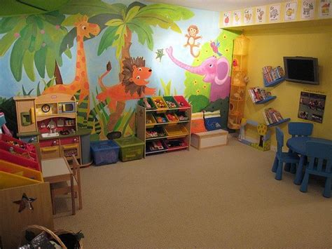 playroom mural ideas home daycare ideas for the future pinterest playroom ideas home daycare rooms and murals