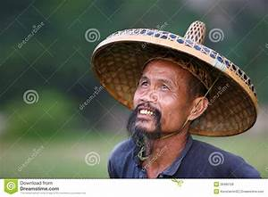 Chinese man in old hat editorial stock photo. Image of ...