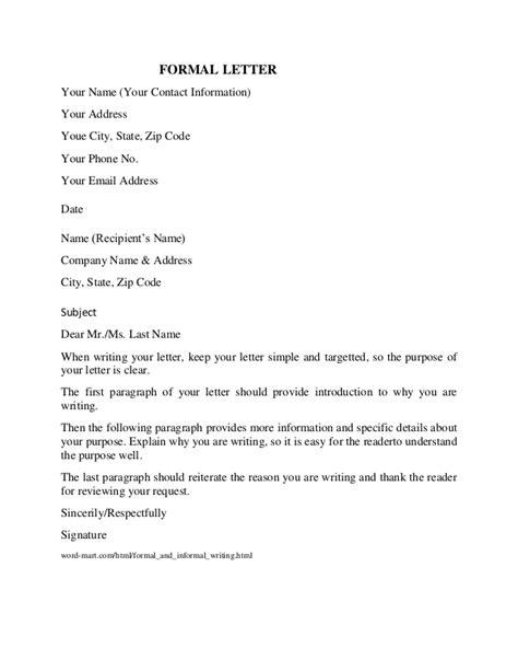 17204 formal letter format